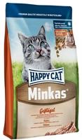تصویر غذای خشک گربه بالغ Happy Cat مدل Minkas با طعم طیور، ماهی و گوشت بره - 4 کیلوگرم