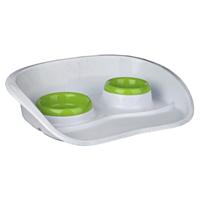 تصویر ظرف دو قلو سینی دار Stefanplast رنگ سبز