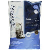 تصویر غذای خشک Sanabelle مخصوص گربه های داخل خانه مدل +Adult ماهی تازه- 2 کیلوگرم