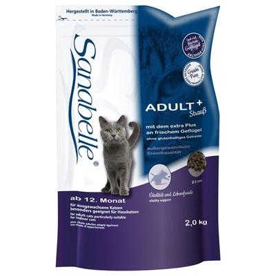 تصویر غذای خشک گربه بالغ Sanabelle مدل Adult+ شترمرغ تازه - 2کیلوگرم