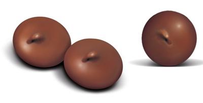 تصویر غذای تشویقی سگ با طعم شکلات مدل Schoko Drops