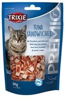 تصویر تشویقی مخصوص گربه Trixie مدل Tuna Sandwiches تهیه شده از ماهی تن و مرغ