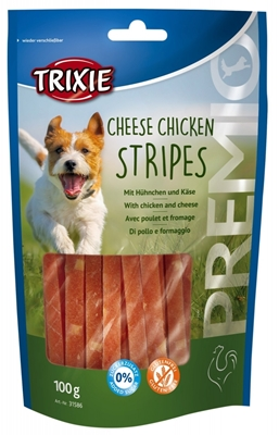 تصویر غذای تشویقی سگ Trixie مدل Cheese Chicken Stripes با طعم مرغ و پنیر