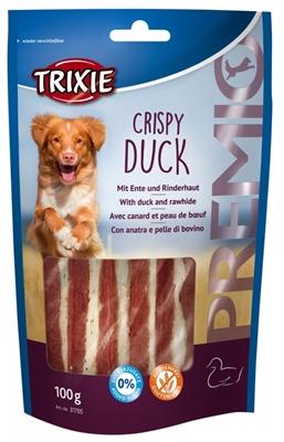 تصویر غذای تشویقی سگ Trixie مدل Crispy Duck با طعم اردک و پوست خشک شده گاو