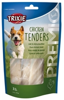 تصویر غذای تشویقی سگ Trixie مدل Chicken Tenders تهیه شده از فیله مرغ بخارپز شده