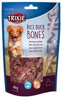تصویر استخوان جویدنی تشویقی مخصوص سگ Trixie مدل Rice Duck Bones با طعم گوشت اردک و برنج