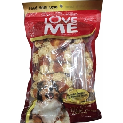 تصویر غذای تشویقی سگ LoveMe با طعم مرغ و هویج - بسته کوچک (5 عددی)