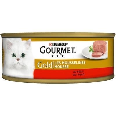 تصویر کنسرو گربه Gourmet Gold تهیه شده از گوشت گاو