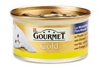 تصویر کنسرو گربه Gourmet Gold تهیه شده از مرغ