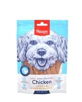 تصویر اسنک تشویقی مخصوص سگ Wanpy مدل Jerky & Cheese Slices با طعم مرغ - ۱۰۰ گرم