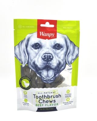 تصویر استخوان ژلاتینی مخصوص سگ Wanpy مدل Toothbrush Chews با طعم گوشت گاو - ۱۰۰ گرم