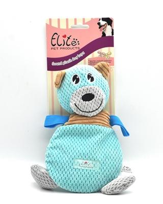 تصویر اسباب بازی عروسک صدا دار Elite مدل خرس آبی