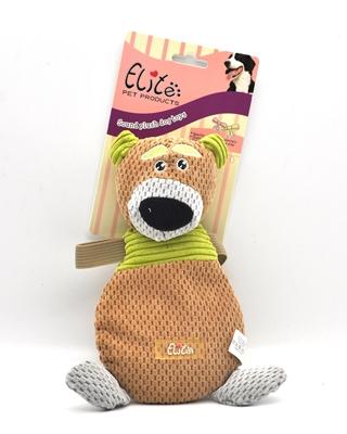 تصویر اسباب بازی عروسک صدا دار Elite مدل خرس قهوه ای