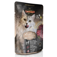 تصویر پوچ مخصوص گربه بالغ Leonardo تهیه شده از گوشت بره و کرنبری - 85 گرم
