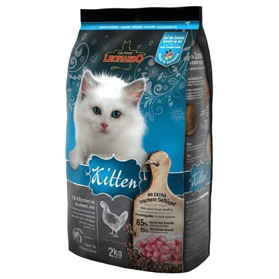 تصویر غذای خشک بچه گربه Leonardo با طعم مرغ - 2 کیلو گرم