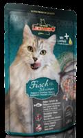 تصویر پوچ Leonardo مخصوص گربه بالغ با طعم ماهی و میگو - 85 گرم