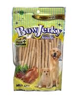تصویر غذای تشویقی سگ Rena مدل BowJerky با طعم شیر - 250 گرمی
