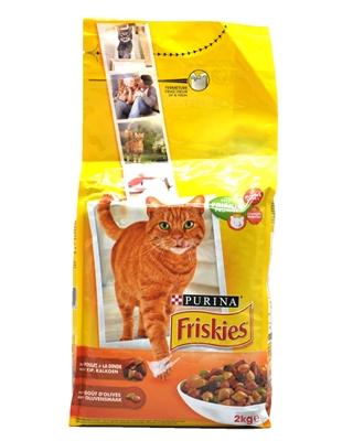 تصویر غذای خشک گربه بالغ Friskies با طعم مرغ و اردک و بوقلمون - 2 کیلوگرم