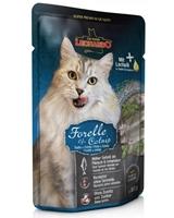 تصویر پوچ Leonardo مخصوص گربه بالغ با طعم ماهی قزلآلا و کت نیپ - 85 گرم