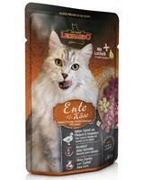 تصویر پوچ Leonardo مخصوص گربه بالغ با طعم اردک و پنیر - 85 گرم