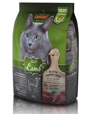 تصویر غذای خشک گربه بالغ Leonardo با طعم گوشت بره - 400 گرم