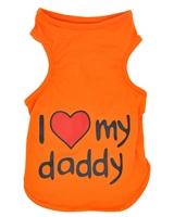 تصویر لباس سگ و گربه با طرح I Love my Daddy سایز XXL
