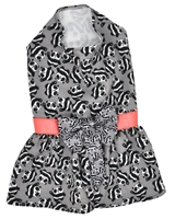 تصویر لباس سگ و گربه با طرح پترن پاندا Cando رنگ خاکستری سایز M