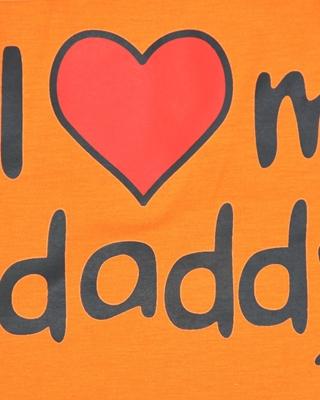 تصویر لباس سگ و گربه با طرح I Love my Daddy سایز XL