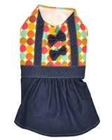 تصویر لباس دخترانه سگ و گربه با طرح خال خال Cando سایز L