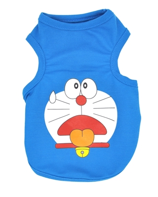 تصویر لباس سگ و گربه با طرح Doraemon رنگ آبی سایز XL