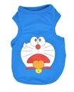 تصویر لباس سگ و گربه با طرح Doraemon رنگ آبی سایز S
