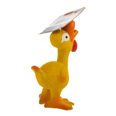 تصویر اسباب بازی بوقلمون Karlie Flamingo مدل Lat'x' Toy مخصوص سگ - رنگ زرد