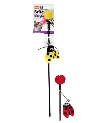 تصویر اسباب بازی میله ای Karlie Flamingo مدل Buite Bugz مخصوص گربه