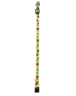 تصویر گردنبند Karlie Flamingo مخصوص گربه با طرح گل های سبز