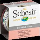 تصویر کنسرو Schesir مخصوص گربه با طعم ماهی سالمون (Natural Style)