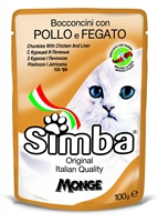 تصویر پوچ مخصوص گربه Simba با طعم مرغ و جگر