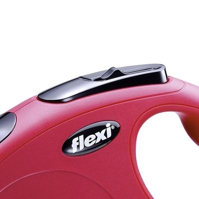 تصویر قلاده متری Flexi، مدل classic رنگ قرمز- 3 متری سایز XS