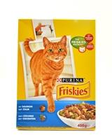 تصویر غذای خشک گربه بالغ Friskies با طعم ماهی تن و ماهی آزاد - 400 گرم