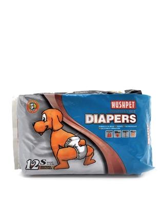 تصویر پوشک بهداشتی HushPet مخصوص سگ سایزS - بسته 12 عددی
