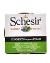 تصویر کنسرو Schesir مخصوص گربه با طعم ماهی تن و مرغ