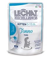 تصویر پوچ مناسب برای بچه گربه Lechat مدل Excellence با طعم ماهی تن-100 گرم