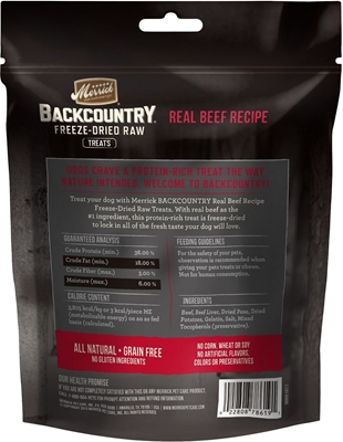 تصویر تشویقی مخصوص سگ BackCountry تهیه شده از گوشت گاو
