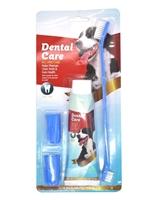 تصویر پک مسواک و خمیر دندان Dental Care مخصوص سگ با طعم گوشت گاو