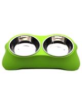 تصویر ظرف آب و غذای مخصوص سگ و گربه - رنگ سبز
