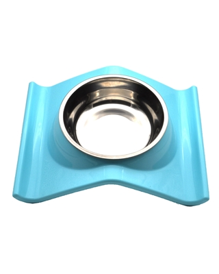 تصویر ظرف غذا مخصوص سگ و گربه - رنگ آبی روشن