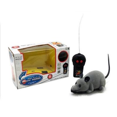 تصویر اسباب بازی موش کنترلی مخصوص گربه - رنگ طوسی