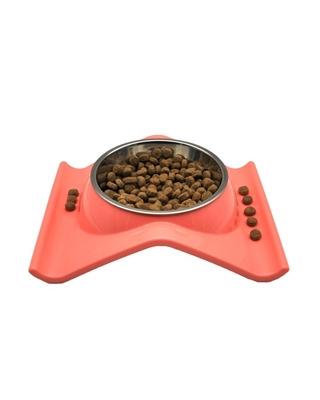 تصویر ظرف غذا مخصوص سگ و گربه - رنگ گلبهی