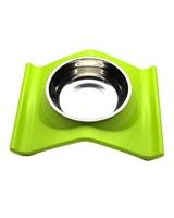 تصویر ظرف غذا مخصوص سگ و گربه - رنگ سبز روشن