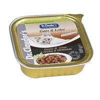 تصویر خوراک کاسه ای مخصوص گربه Dr.Clauder's تهیه شده از جگر و گوشت غاز - 100 گرم