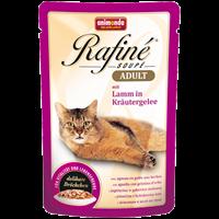 تصویر پوچ Rafine مخصوص گربه تهیه شده از گوشت گوسفند و سبزیجات در ژله - 100 گرم